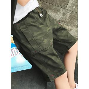 Camouflage Big Pocket Shorts - ARMY GREEN 4XL