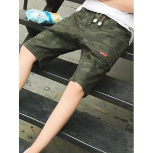 Camouflage Big Pocket Shorts - ARMY GREEN 2XL