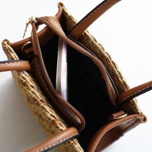 Straw Woven Tote Bag -