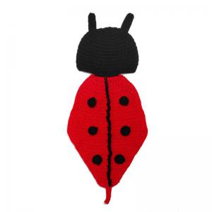 Baby Photography Knitted Beetle Hooded Blanket -