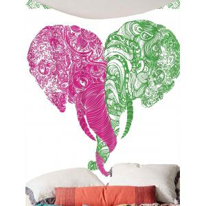 Floral Elephant Print Wall Art Tapestry -