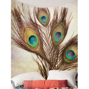 Home Decor Peacock Feather Wall Art Tapestry -