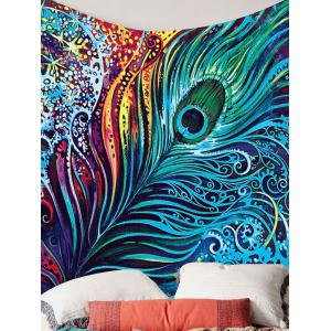 Peacock Feather Printed Wall Hanging Tapestry -