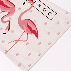 Table Decorative Flamingo Pattern Linen Placemat -