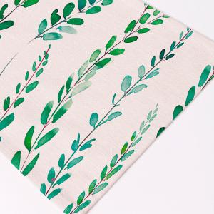 Linen Tropical Plants Print Placemat For Table -