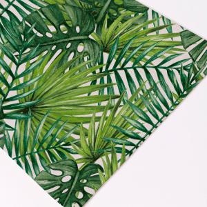Fern Plant Heat Insulation Linen Placemat - GREEN 28*44CM(3)
