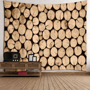 Vintage Waterproof Wood Print Wall Hanging Tapestry -