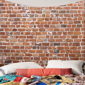 Brick Print Waterproof Wall Art Tapestry -