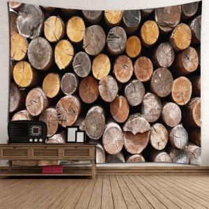 Home Decor Round Wood Print Waterproof Wall Tapestry -