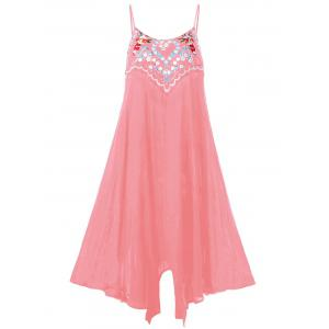 Plus Size Embroidery Slip Flowy Dress