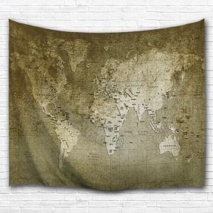 World Map Wall Hanging bronze w71 inch * l91 inch retro world map wall hanging tapestry