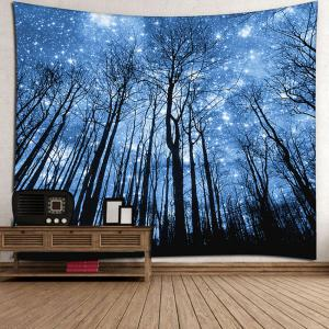 Wall Hanging Forest Printed Tapestry - BLUE W91 INCH * L71 INCH