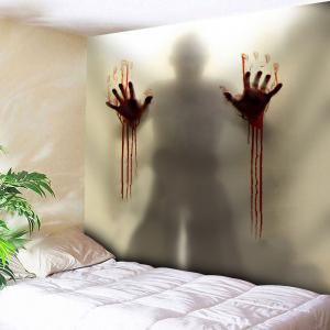 Wall Hanging Bloody Plam Print Tapestry - Light Brown - W91 Inch * L71 Inch