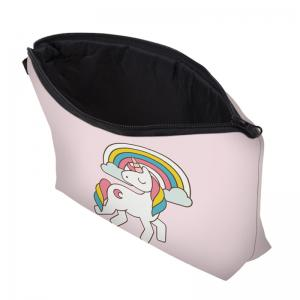 Unicorn Print Makeup Bag - LIGHT PINK