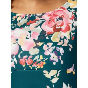 High Waisted A Line Floral Plus Taille Robe -