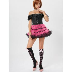 Tier Light Up Color Block Tutu Cosplay Skirt -