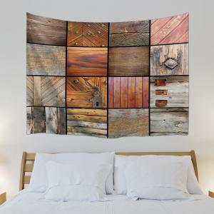 Woody Grid Decorative Wall Art Multiuse Tapestry -