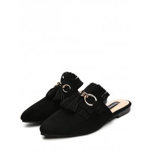 Tassels Pointed Toe Slippers -
