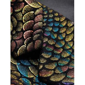 Colorful Scales Pattern Blazer Suit -
