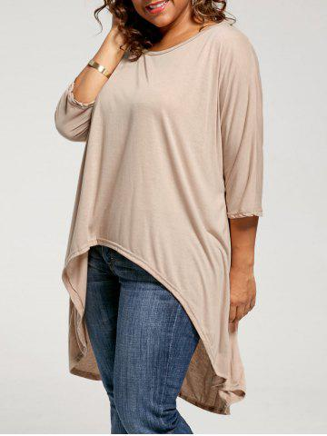 Fancy High Low Plus Size Tunic T-shirt