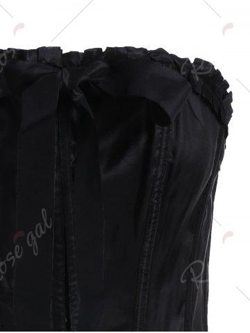 Shops Lace-Up Body Shaping Corset - XL BLACK Mobile