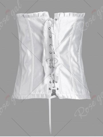 Outfit Lace-Up Waist Trainer Corset - L WHITE Mobile