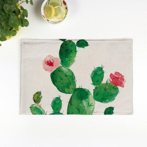 Buy Heat Insulation Table Cactus Printed Placemat