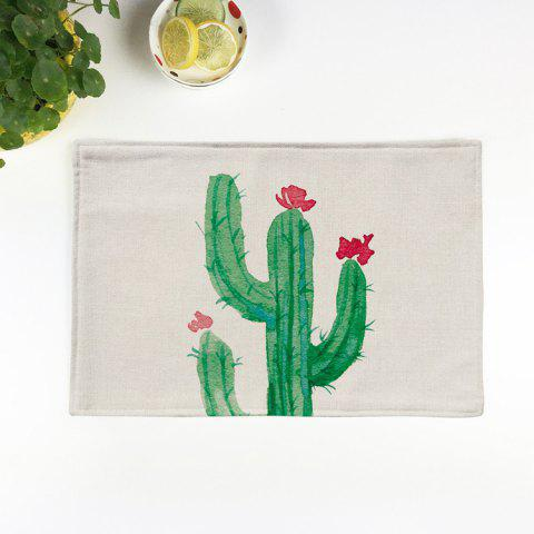 Affordable Heat Insulation Table Cactus Printed Placemat