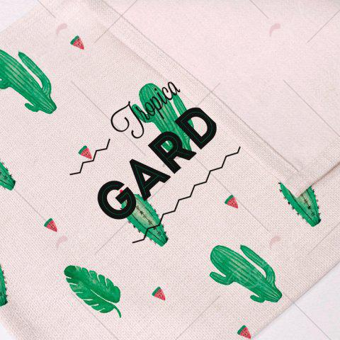 Best Heat Insulation Table Cactus Printed Placemat - PATTERN D BEIGE Mobile