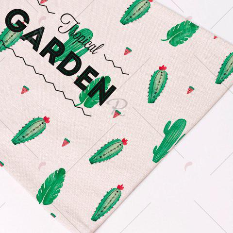 Hot Heat Insulation Table Cactus Printed Placemat - PATTERN D BEIGE Mobile