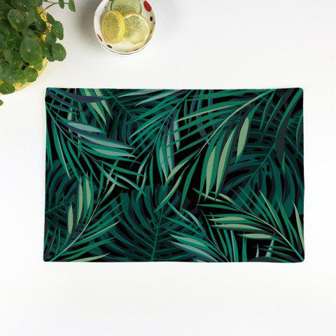Affordable Greenery Print Kitchen Product Table Placemat GREEN 28*44CM