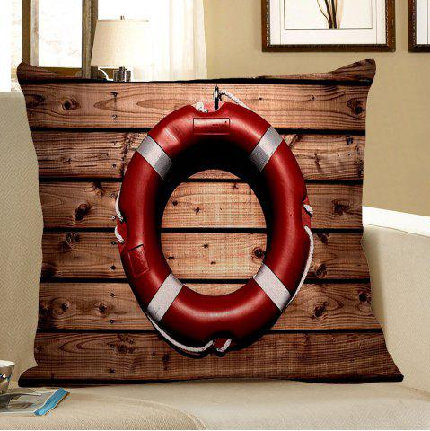 Affordable Wood Grain Steering Wheel Decorative Pillow Case - 45*45CM BROWN Mobile