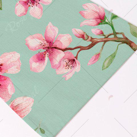 Trendy Floral Table Heat Resistant Linen Placemat - PATTERN D LIGHT GREEN Mobile