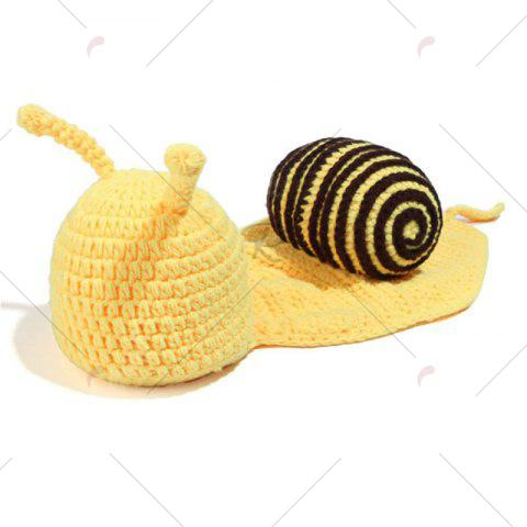 Chic Knitted Cartoon Snail Shape Baby Hooded Blanket - COFFEE  Mobile