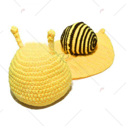 Sale Knitted Cartoon Snail Shape Baby Hooded Blanket - COFFEE  Mobile