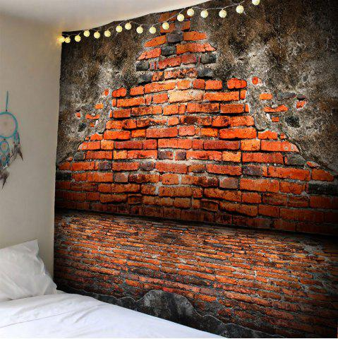 Trendy Vintage Waterproof Broken Brick Wall Tapestry