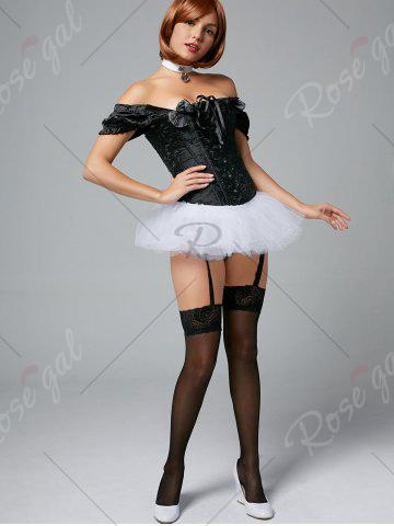 Fashion Tier Mesh Light Up Tutu Cosplay Skirt - ONE SIZE WHITE Mobile