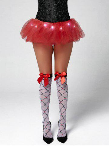 Tier Mesh Light Up Tutu Cosplay Jupe Rouge TAILLE MOYENNE