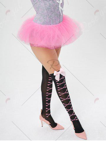 Sale Tier Mesh Light Up Tutu Cosplay Skirt - ONE SIZE LIGHT PINK Mobile