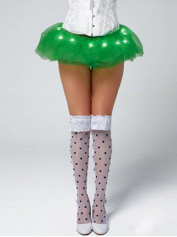 Tier Mesh Light Up Tutu Cosplay Jupe Vert TAILLE MOYENNE