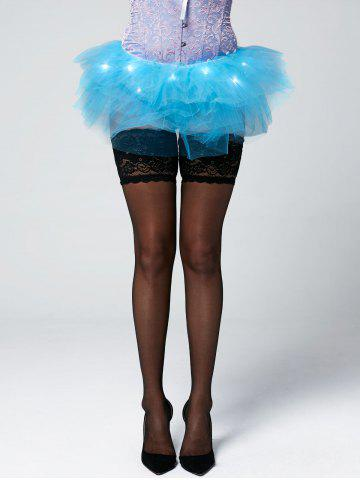 Online Tier Mesh Light Up Tutu Cosplay Skirt