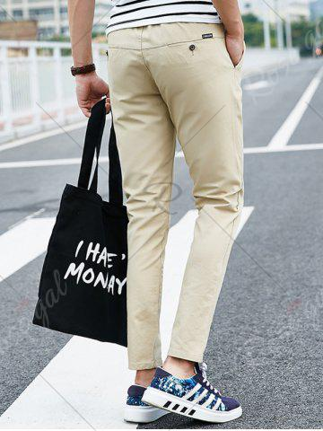 Trendy Drawstring Multi Pockets Design Casual Pants - XL LIGHT KHAKI Mobile