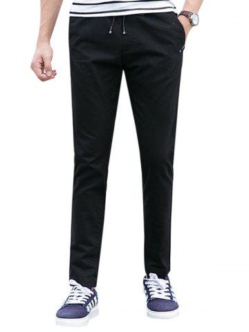 Outfit Drawstring Multi Pockets Design Casual Pants - 4XL BLACK Mobile