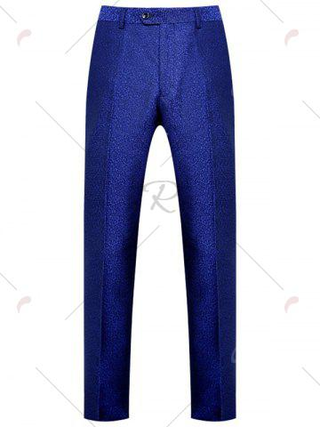Cheap One Button Heathered Blazer Suit - 4XL ROYAL Mobile