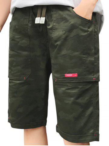Hot Camouflage Big Pocket Shorts ARMY GREEN 2XL