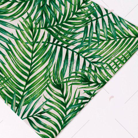 Buy Fern Plant Heat Insulation Linen Placemat - 28*44CM(1) GREEN Mobile