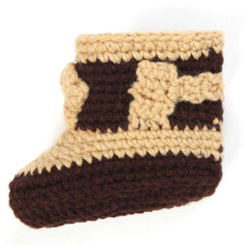 Online Knitted Cowboy Photography Clothes Set For Baby - BROWN  Mobile
