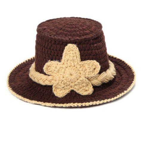 Store Knitted Cowboy Photography Clothes Set For Baby - BROWN  Mobile