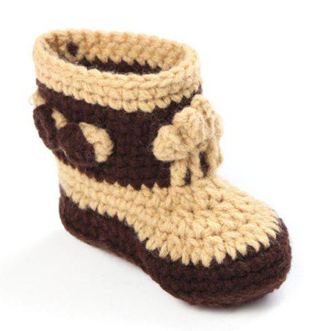Sale Knitted Cowboy Photography Clothes Set For Baby - BROWN  Mobile