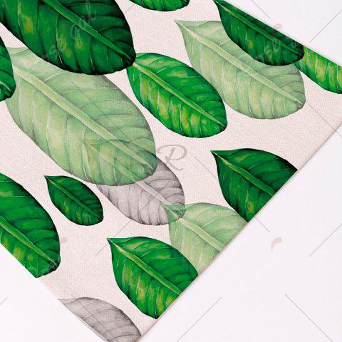 Online Plant Print Heat Insulation Non Slip Placemat - PATTERN B GREEN Mobile